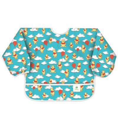 Bumkins® Disney® Winnie the Pooh with Balloons Long Sleeved Bib in Teal