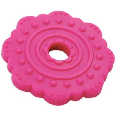 Bumkins® Silicone Flower Teether in Fuchsia