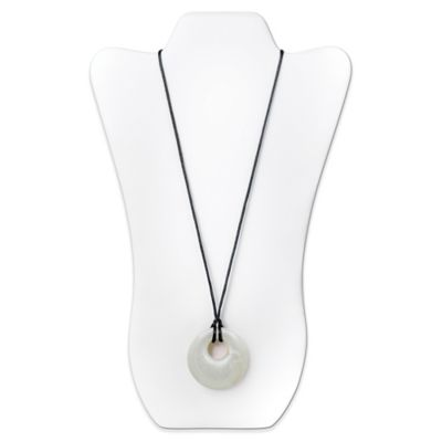 Bumkins® Gemma Silicone Teething Pendant in Opal