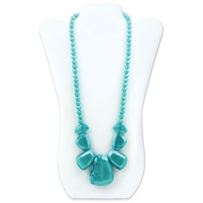 Bumkins® Rocca Silicone Teething Necklace in Aquamarine