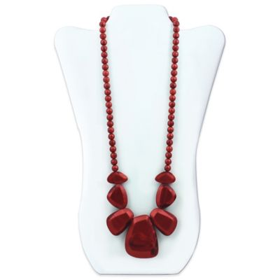 Bumkins® Rocca Silicone Teething Necklace in Ruby