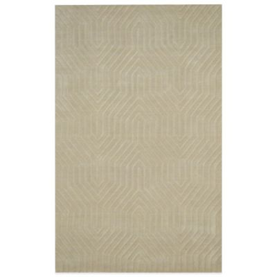 Rizzy Home Technique Geometric 2-Foot x 3-Foot Area Rug in Blue