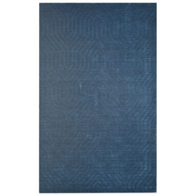 Rizzy Home Technique Geometric 5-Foot x 8-Foot Area Rug in Blue