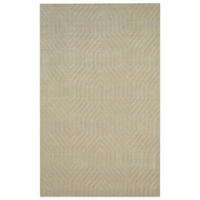 Rizzy Home Technique Geometric 5-Foot x 8-Foot Area Rug in Ivory