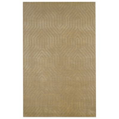 Rizzy Home Technique Geometric 5-Foot x 8-Foot Area Rug in Beige