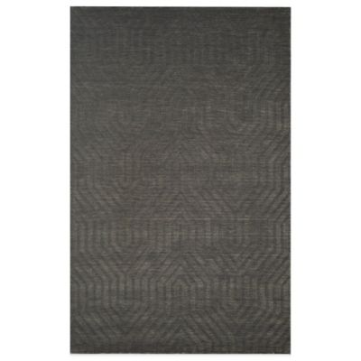 Rizzy Home Technique Geometric 5-Foot x 8-Foot Area Rug in Grey