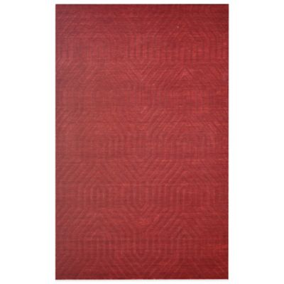 Rizzy Home Technique Geometric 5-Foot x 8-Foot Area Rug in Burgundy