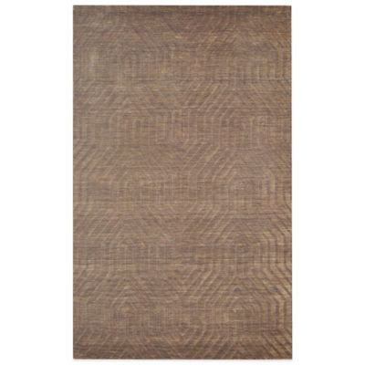 Rizzy Home Technique Geometric 5-Foot x 8-Foot Area Rug in Brown