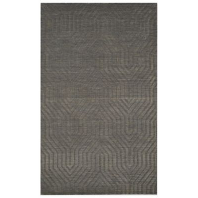 Rizzy Home Technique Geometric 5-Foot x 8-Foot Area Rug in Light Grey