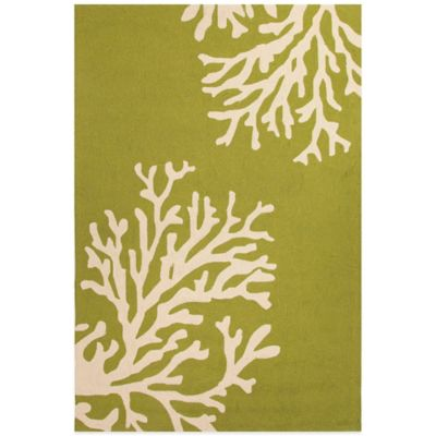 Jaipur Grant Design Bough Out 2-Foot x 3-Foot Indoor/Outdoor Rug in Green/Ivory