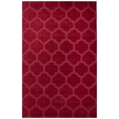 Jaipur Metro Tile Design 5-Foot x 8-Foot Area Rug in Red