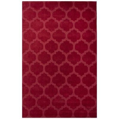 Jaipur Metro Tile Design 5-Foot x 8-Foot Area Rug in Red