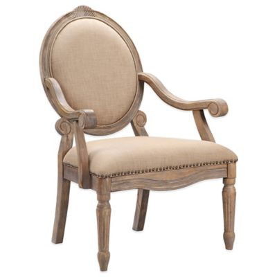 Madison Park Brentwood Chair in Linen Grey
