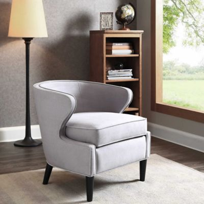 Madison Park Lucca Chair in Silver Grey