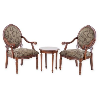 Madison Park 3-Piece Brentwood Arm Chairs and Table Set