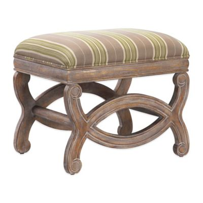 Madison Park Candice Ottoman in Buxton Lime