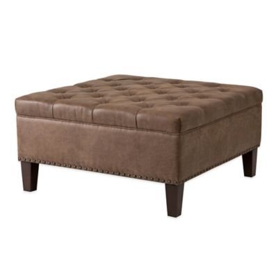 Square Leather Ottomans