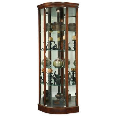 Howard Miller Marlowe Corner Curio in Hampton Cherry