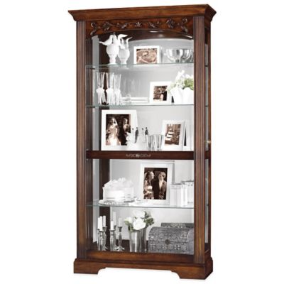 Howard Miller Hartland Two-Way Sliding Door Curio in Hampton Cherry