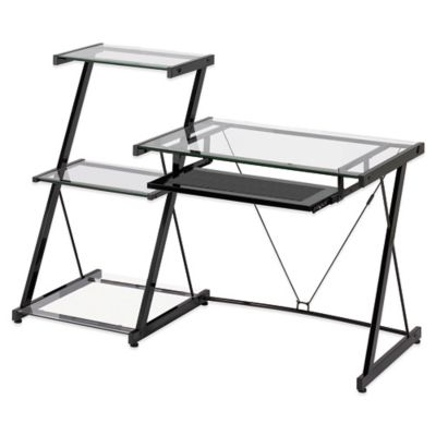 Z-Line Designs Nero Desk and Bookcase