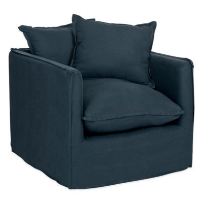 Safavieh Joey Arm Chair in Dark Blue