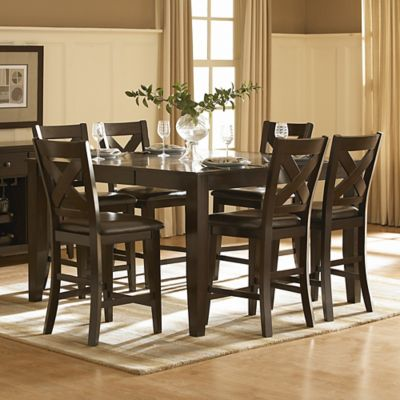 Verona Home Avers 7-Piece Counter Height Dining Room Set