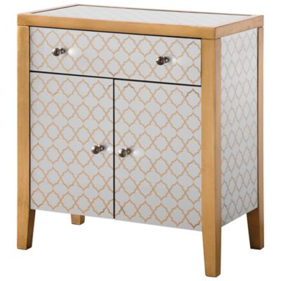 Uttermost Karolina Mirrored Accent Chest in Gold
