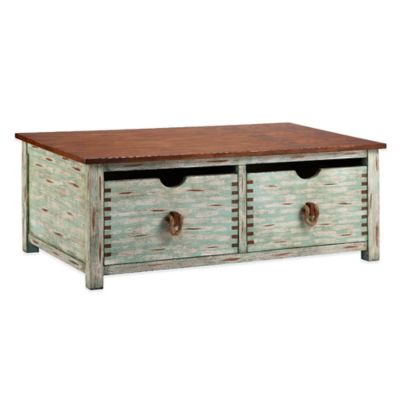 Panama Jack Weathered Blue Cocktail Table