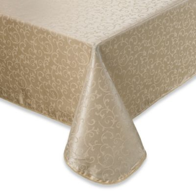 Lenox® Opal Innocence™ 60-Inch x 102-Inch Oblong Tablecloth in Ivory