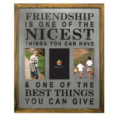 "Marrone 3-Photo ""Friendship"" Collage Frame"