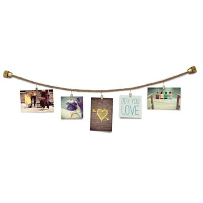 Umbra Photoline Wall-Mount Rope Photo or Card Display