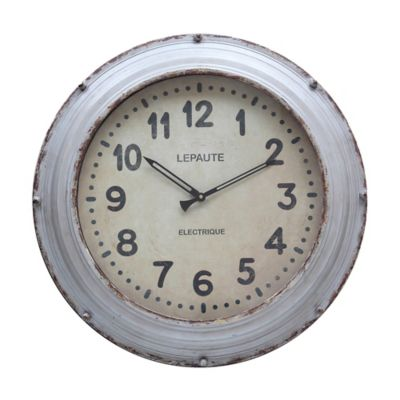 Grey Metal Clock