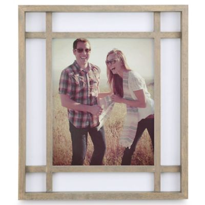 Umbra® Teju 8-Inch x 10-Inch Wood Picture Frame in Grey