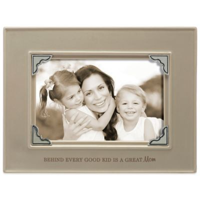 Grasslands Road® 4-Inch x 6-Inch Mom Sentiment Photo Frame in Taupe