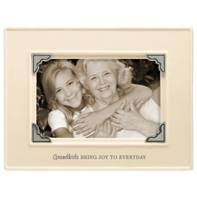 Grasslands Road® 4-Inch x 6-Inch Grandkids Sentiment Photo Frame in Mint