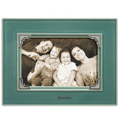 "Grasslands Road® 4-Inch x 6-Inch ""Memories"" Sentiment Photo Frame in Teal"
