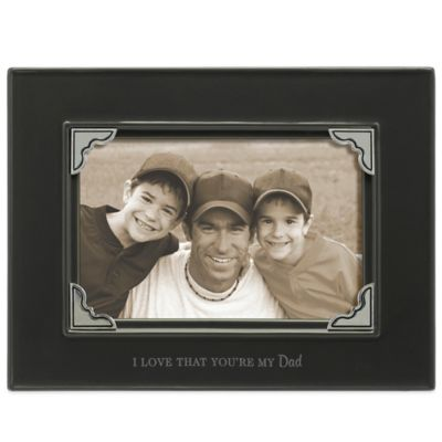 "Grasslands Road® 4-Inch x 6-Inch ""I Love That You're My Dad"" Sentiment Photo Frame in Dark Grey"