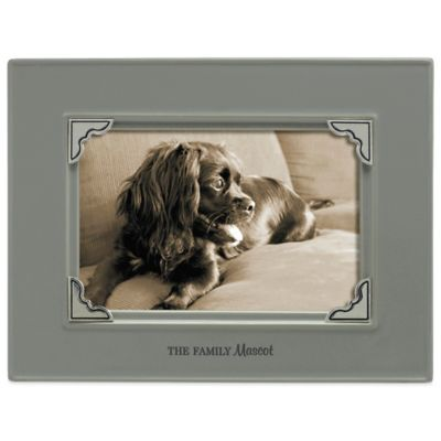 "Grasslands Road® 4-Inch x 6-Inch ""The Family Mascot"" Pet Sentiment Photo Frame in Grey"