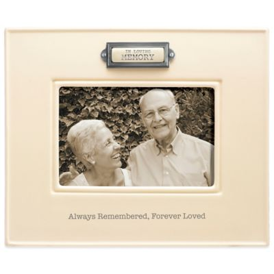 "Grasslands Road® 4-Inch x 6-Inch ""In Loving Memory"" Sentiment Frame in Ivory"