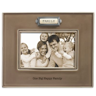 "Grasslands Road® 4-Inch x 6-Inch ""Family"" Sentiment Frame in Taupe"