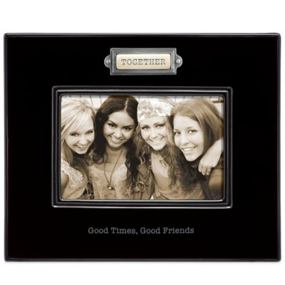 "Grasslands Road® 4-Inch x 6-Inch ""Together"" Photo Frame in Black"