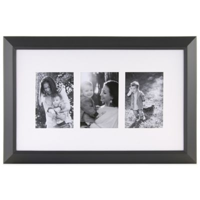 3-Photo 5-Inch x 7-Inch Collage Frame in Black