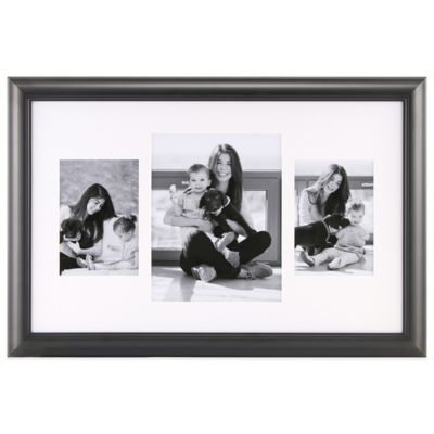 3-Photo Collage Frame in Black