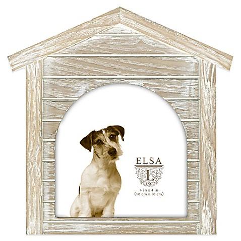Elsa L 4.5-Inch x 4.5-Inch Dog House Sentiment Frame
