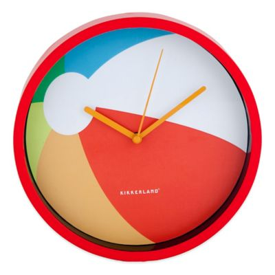 Kikkerland® Beach Ball Wall Clock