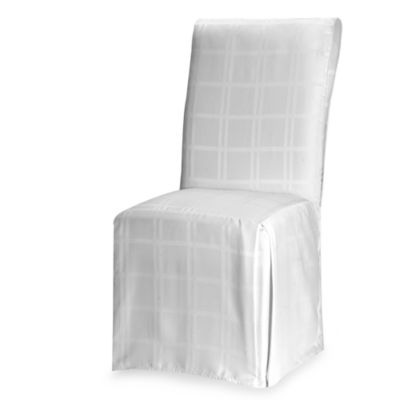 Origins Microfiber White Dining Room Chair Cover