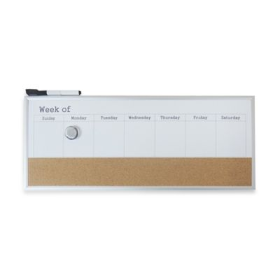 Dry Erase Weekly Calendar Board