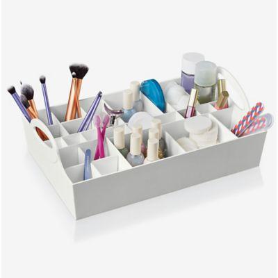 Style in a Box Adjustable Cosmetic Organizer in White