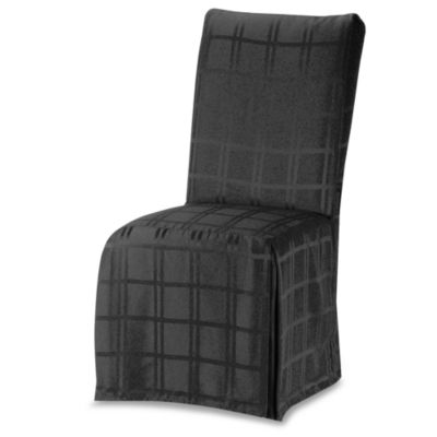 Origins Microfiber Black Dining Room Chair Cover