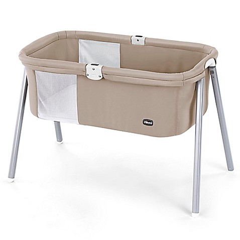 Buy chicco lullago portable bassinet in acorn from bed for Portable bassinet